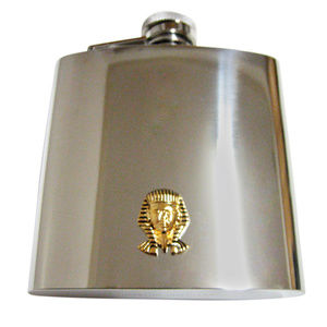 Gold Toned Egyption King Tutankhamun Large Flask